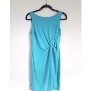 Ann Taylor Turquoise Side Knot Dress